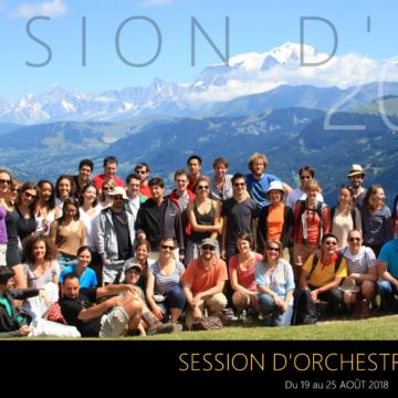 Session d'orchestre d'été du COGE 2018