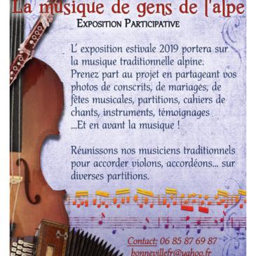 Exposition participative : «La musique des gens de l'Alpe»